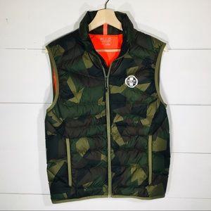 RALPH LAUREN Polo Sport Camo Puffer Vest Men's S